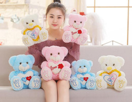 0c6836a808c 20170634 New Hot Selling Free shipping For girls present Plush Toy Lovely  Night-light Teddy Bear Loving Bear