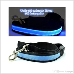 $enCountryForm.capitalKeyWord Australia - B13 Pet dog LED leahses leads pet traction rope pull strap for dogs cats 120cm length battery and USB Rechargeable
