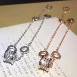 $enCountryForm.capitalKeyWord NZ - Luxury Crystal High Quality Classic Spring Woman Bracelets Stainless Steel Silver Plated Bracelet Couple love Bracelet Christmas Gift
