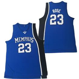 ff667fd43 #23 Derrick Rose Jersey Memphis Tigers Jersey College Basketball Jerseys  Men S to XXL Free Shipping