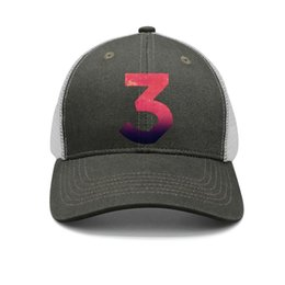 $enCountryForm.capitalKeyWord Australia - Hip hop Chance The Rapper 3 Sticker army-green mens and womens trucker cap baseball styles custom customize hats