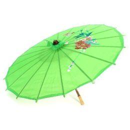 $enCountryForm.capitalKeyWord UK - Paper umbrella, 56cm diameter, foldable, floral pattern, Japanese style, green
