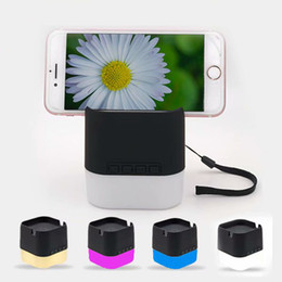 Factory Wireless Audio Australia - Colorful LED light wireless bluetooth speaker with moble phone holder lanyard support TF USB driver player factory OEM package LOGO