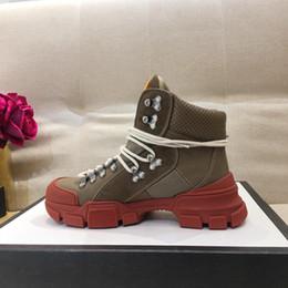 Canvas Hiking Shoes Australia - 2018 sneaker women brown leather sneakers logo designer sneaker boots technical canvas women hiking shoes 02