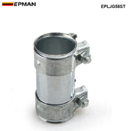 "Pipe Adapters Australia - EPMAN NEW Car Styling 2.25""Exhaust Connector Coupler 304 Stainless Steel Front Adapter Pipe Tube Joiner 58mm EPLJG58ST"