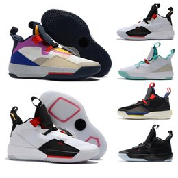 purchase cheap e0134 8d29c Jumpman 33 33s XXXIII Future of Flight Guo Ailun Tech Pack Man Shoes White  Metallic Gold Black-Vast Grey Safety Shoes Men casual shoes