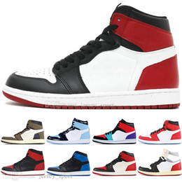 boys baseball camps NZ - Boys 1 High OG Travis Scotts Cactus Jack UNC Spiderman Mens Basketball shoes 1s Top 3 Banned Bred Toe Chicago Men Sports Sneakers