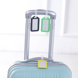 plastic travel bag tags UK - 2019 travel accessories Plastic Luggage Tag Travel Suitcase Travel Bag Boarding Tag Label Name ID Tags candy color Wholesale