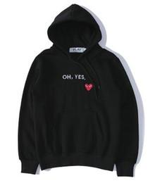 Vente en gros T-shirt C-D-G de designer pour hommes de haute qualité, commes des garcons, chemise à capuche en coton imprimé avec un coeur noir, pour hommes et femmes, encre splash décontractée, blanc h