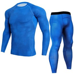 $enCountryForm.capitalKeyWord UK - 2019 NEW Men's Compression Set Running Tights Workout Fitness Training Tracksuit Long Sleeves Shirts Sport Suit rashgard kit 4XL