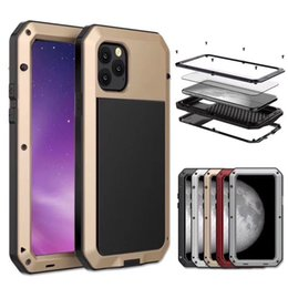 aluminum cell phone cases wholesale UK - For Samsung Galaxy S10 Plus note 10 Shockproof Waterproof case Powerful Protection Aluminum Metal Cover Cell Phone Case for Huawei P30 pro