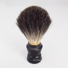 painting faces Australia - Black Badger Hair Painted Wood Handle Shaving Brush for Man Beard Remove Face Clean Tool