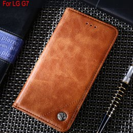 $enCountryForm.capitalKeyWord Australia - for LG G7 case Luxury Leather Flip cover with Stand Card Slot Vintage Business style phone Cases for lg g7 funda Without magnets