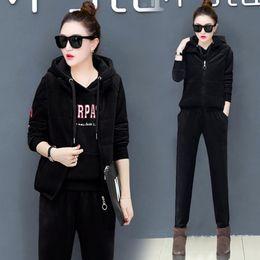 $enCountryForm.capitalKeyWord UK - YICIYA black 3 piece set women winter 2 pcs outfits tracksuits co-ord set pant suits and top Vest plus size velvet thick warm