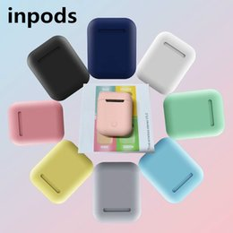 Apple iphone new model online shopping - New inpods i12 tws Earphones Portable Mini Earbuds Bluetooth Touch Model D Stereo Cute Color for Fashion Girl Boy