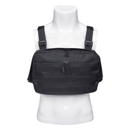 Vente en gros Hommes Sacs à bandoulière tactique Nouveau coffre thoracique Streetwear Sac de poitrine tactique fonctionnel Sac à bandoulière