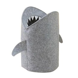 $enCountryForm.capitalKeyWord UK - Style Felt Cloth Folding Laundry Basket Shark Design Laundry Bag For Toys Clothes Storage Bags Home Organizer decor ZJ0669