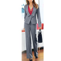 $enCountryForm.capitalKeyWord NZ - women professional suits Grey Women Ladies Business Office Tuxedos 2 Piece Jacket+Pants Work Wear Suits