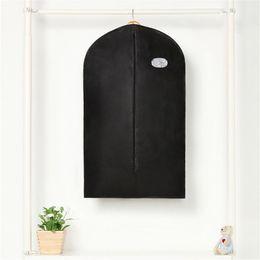 Black Carrier Bags Australia - Protector Home Dress Coat Garment Black Suit Zip Hanging Storage Bags Hanger Travel Carrier Bag Cover Hanging Dustproof