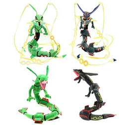 stuff toy small NZ - 80CM Mega Rayquaza Black Rayquaza Animal Plush Peluche Doll With Skeleton Soft Stuffed Hot Toy Christmas Gift For Children SH190913