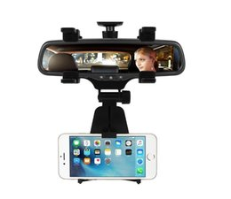 $enCountryForm.capitalKeyWord Australia - Car Phone Holder Car Rearview Mirror Mount Phone Holder 360 Degrees For iPhone Samsung GPS Smartphone Stand Universa (Retail)l