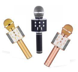 $enCountryForm.capitalKeyWord NZ - WS-858 Wireless Speaker Microphone Portable Karaoke Hifi Bluetooth Player WS858 For iphone 6 6s 7 ipad Samsung Tablets PC better than Q7 Q9