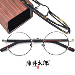 adc540256f7 TARO FUJII Optical Eyeglasses Frame Men Women Retro Round Prescription  Computer Glasses Spectacle Frame Clear Lens Female Oculos