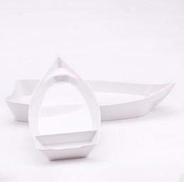 $enCountryForm.capitalKeyWord Australia - Boat Ship Shape Plate A5 Melamine Dinnerware Dinner Plate Western Restaurant Tableware 26*12.3*3.1cm