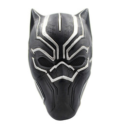 $enCountryForm.capitalKeyWord Australia - Latex Black Panther Mask Marvel Superhero Mask Full Face Cosplay Costume Hero Prop Halloween Masquerade Costume Accessories