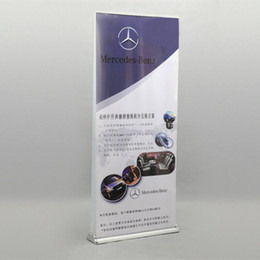 $enCountryForm.capitalKeyWord Australia - Portable Luxury Aluminum Roll Up Banner Double Sided Roll Up Stand with Double 85x200cm Banner Printing Carry Bag Packing