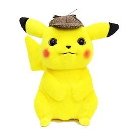 Cute Anime Cartoon Australia - Detective Pikachu Plush Toy High Quality Cute Anime Plush Toys Children's Gift Toy Kids Cartoon Peluche Pikachu Plush Doll