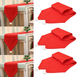 Red tablecloths cotton online shopping - 34X176CM Christmas Table Runner Mat Tablecloth Christmas Flag Home Party Decor Red Table Runners Xmas Decor