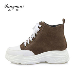 $enCountryForm.capitalKeyWord NZ - fanyuan New Autumn Winter Lace-Up Boots Casual Mixed Colors Martin boots Fashion Flat Platform Ankle Boots Women keep warm Shoes