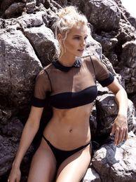 $enCountryForm.capitalKeyWord Canada - New Sexy Women's Sheer Mesh Bikini Sets Padded Push Up Swimwear Swimsuit Two-piece Bathing Suit Beachwear