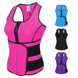 yoga body clothes UK - 2018 New Women Waist Trainer Vest Gym Workout Slimming Adjustable Sweat Belt Body Shape Yoga Clothing #295685