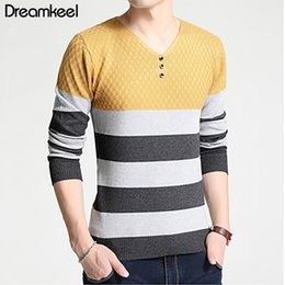 Male Clothing Styles Canada - 2019New Design Men Sweater Fashion Cotton Pullover Men's Autumn Winter Top With Vneck Male Quality Sweaters christmas clothes Y1
