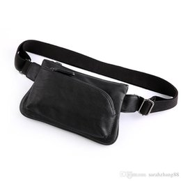leather hip belts for women Australia - Vintage Leather Fanny Pack Waist Bag for Men Women Travel Outdoor Hiking Running Hip Bum Belt Slim Cell Phone Purse Wallet Pouch Black