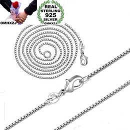 2mm box chain necklace Australia - OMHXZJ Wholesale Personality Fashion OL Woman Girl Party Gift Silver 2MM Box Chain 925 Sterling Silver Chain Necklace NC173