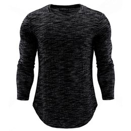 $enCountryForm.capitalKeyWord Australia - 2018 New Trendy Men Bodybuilding T Shirt Casual Long Sleeve Slim Basic Tops Tees Stretch shirt Mens Clothing Chemise Homme