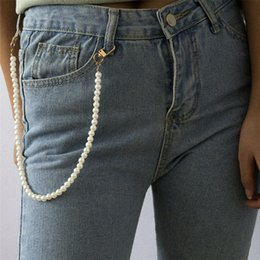 Trouser chain online shopping - Sexy Imitation Pearl Waist Chain Key Chain Rock Punk Trousers Hipster Keychains Pant Jean Keychain Hip Hop Trouser Accessories
