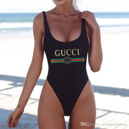 $enCountryForm.capitalKeyWord NZ - 2019 hot High-quality Summer Luxurys Designers Swimwear Women Sexy Letter printing Backless female Padded Bikini Swimsuit Bathing Suit