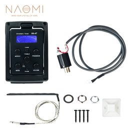 Acoustic Guitar Preamp Tuner Australia - NAOMI EQ-4T 4 Band Pickup EQ Preamp with Tuner For Acoustic Guitar