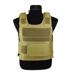 Cs taCtiCal vest online shopping - High Quality Black Hawk Sports Vest Down Body Armor Plate Tactical Carrier Vest CB Camo Woodland Hunting Combat CS
