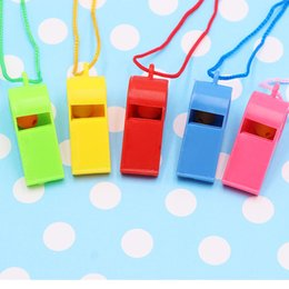 $enCountryForm.capitalKeyWord NZ - Colorful Plastic Whistle Necklace Survival Emergency Training Coaches Referee Whistle with Lanyards Loud Crisp Sound Lifeguards G765R Y