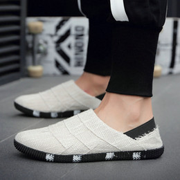 $enCountryForm.capitalKeyWord Australia - 2019 Summer Ethnic Style men Espadrille Casual Flats Shoes Canvas Driving Loafers Flats Insole Shoes D11-07