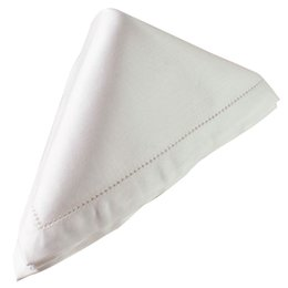 $enCountryForm.capitalKeyWord UK - Washable Table Napkin Dinner White Placemats Wedding Party Decoration Hemstitch Square Home Cotton Blend Soft Durable