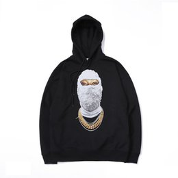 Wholesale hiphop masks for sale - Group buy Mens Designer Hoodies Luxury Hiphop Wear Fashion Trendy Masked Mans Sweater Trendy Loose IH NOM UH NIT Hoodie Kanye West Clothes Asian Size