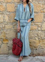 Vintage Design Clothes Australia - 2019 new design womens clothes European and American ladies summer dresses cotton and linen color weaving women's long dress woman clothing