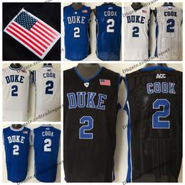 e725576ca Mens Custom Quinn Cook Duke Blue Devils College Basketball Jerseys Customize  Cheap  2 Quinn Cook Stitched Shirts S-XXL