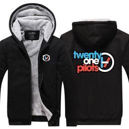 $enCountryForm.capitalKeyWord Australia - Men Casual Thicken Twenty one pilots Band Sweatshirts Winter Cashmere Hoodie Zipper Jacket Leisure Sweatshirts Thicken Cardigan USA EU Size
